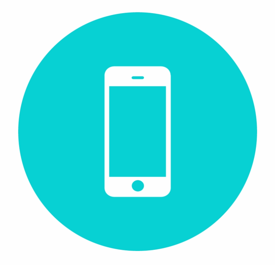 10 103323 phone icons teal mobile app icon transparent background